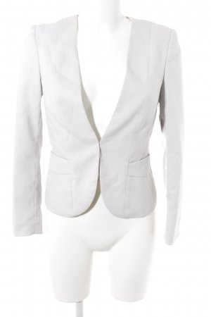 H&M Tweedblazer hellgrau Business-Look