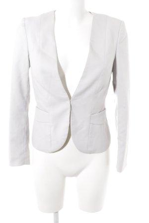 H&M Tweed blazer lichtgrijs zakelijke stijl