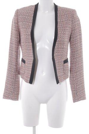 H&M Blazer en tweed rose-orange fluo motif à carreaux style d'affaires