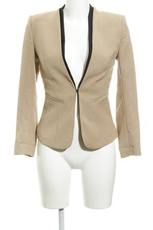 H&M Tweed blazer zandig bruin-zwart rider stijl