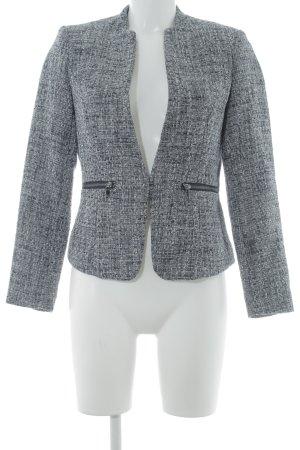 H&M Tweedblazer schwarz-weiß meliert klassischer Stil