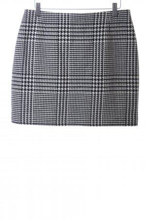 H&M Tweed Skirt white-black check pattern business style