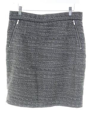 H&M Tweedrock schwarz-weiß Casual-Look