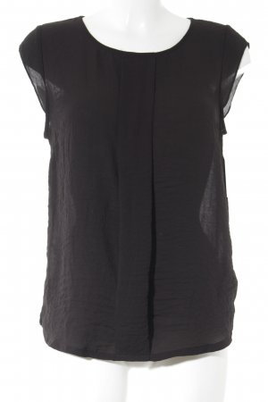 H&M U-Boot-Shirt schwarz Elegant