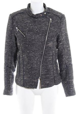 H&M Veste mi-saison gris foncé-crème moucheté style mode des rues