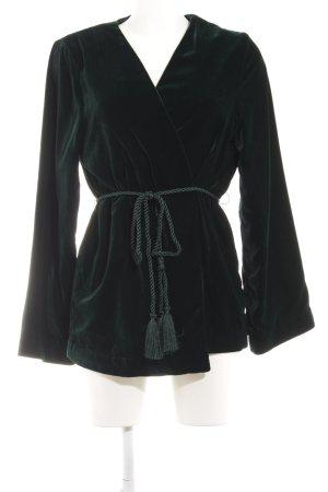 H&M Between-Seasons Jacket dark green wet-look