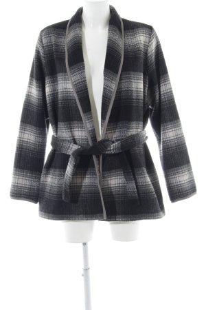 H&M Übergangsjacke grau-weiß Karomuster Casual-Look