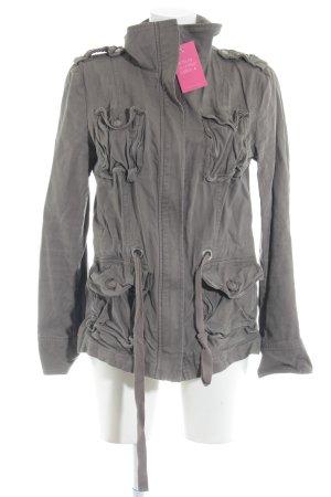 H&M Giacca mezza stagione marrone-grigio stile casual