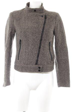 H&M Between-Seasons Jacket grey brown-black flecked casual look