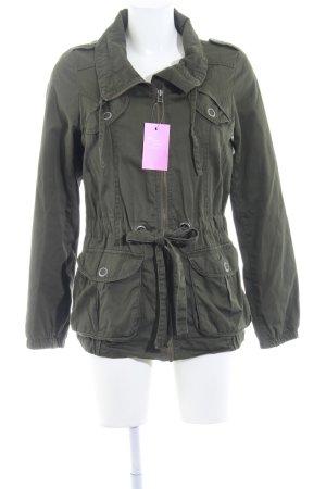 H&M Between-Seasons Jacket green grey casual look