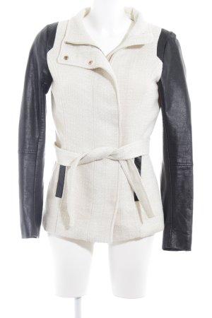 H&M Übergangsjacke hellbeige-schwarz Casual-Look