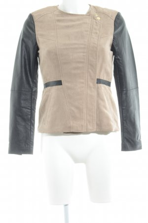 H&M Veste mi-saison marron clair-noir style simple