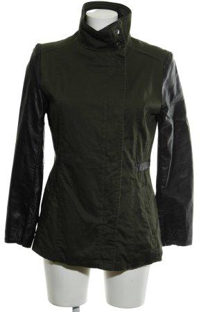 H&M Giacca mezza stagione nero-grigio-verde stile militare
