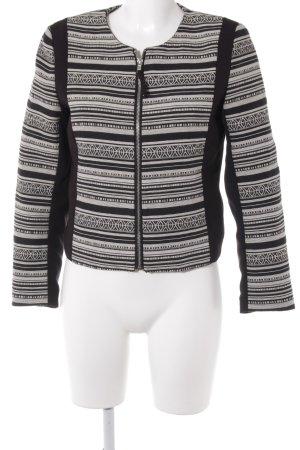 H&M Übergangsjacke schwarz-weiß Ethnomuster Boho-Look