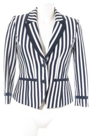 H&M Übergangsjacke weiß-blau Streifenmuster Casual-Look