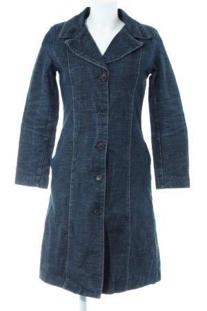 H&M Übergangsmantel dunkelblau Jeans-Optik
