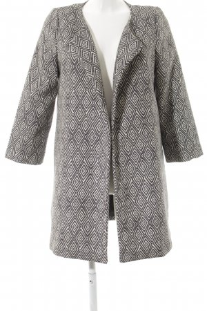 H&M Übergangsmantel hellbeige-schwarz abstraktes Muster Street-Fashion-Look