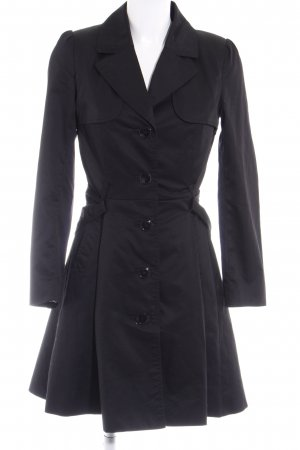 H&M Overgangsjas zwart bloemenprint zakelijke stijl