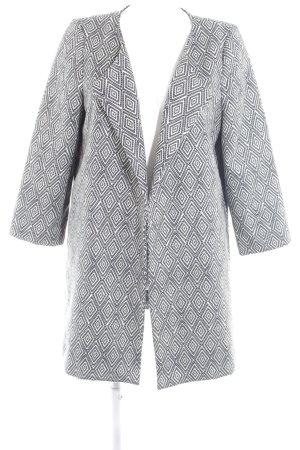 H&M Übergangsmantel schwarz-hellgelb Motivdruck Brit-Look