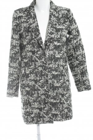 H&M Übergangsmantel schwarz-wollweiß abstraktes Muster Elegant