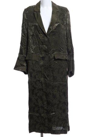 H&M Übergangsmantel waldgrün florales Muster Casual-Look
