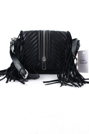H&M Bandolera negro-color plata look casual