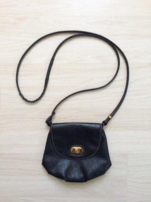 H&M Umhängetasche Tasche Täschchen zum umhängen Party schwarz gold