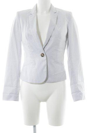 H&M Unisex-Blazer weiß-schwarz Nadelstreifen Business-Look