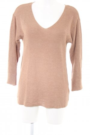 H&M V-Neck Sweater nude casual look
