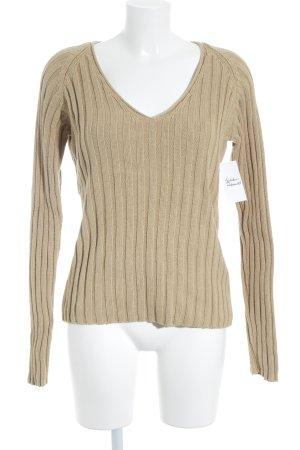 H&M V-Ausschnitt-Pullover camel Casual-Look