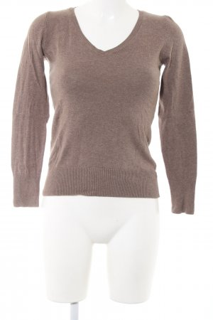 H&M V-Neck Sweater brown casual look