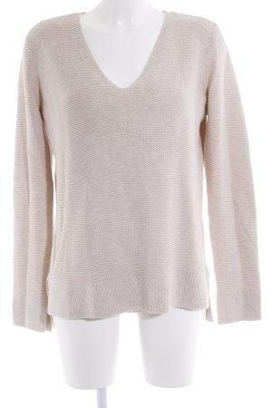 H&M V-Ausschnitt-Pullover hellbeige Casual-Look