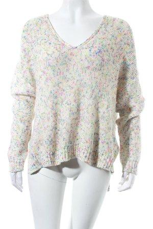 H&M V-Ausschnitt-Pullover mehrfarbig Kuschel-Optik
