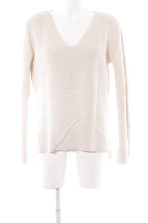 H&M V-Ausschnitt-Pullover nude Nude-Look