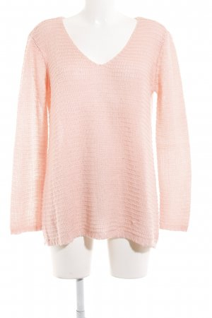 H&M V-Ausschnitt-Pullover rosé Kuschel-Optik