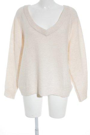 H&M V-Ausschnitt-Pullover rosé Romantik-Look