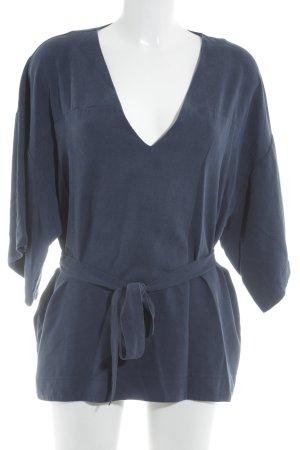 H&M V-Ausschnitt-Shirt dunkelblau Casual-Look