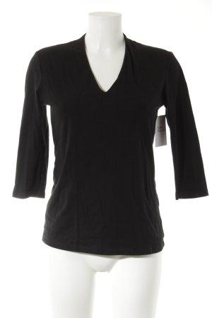 H&M V-Neck Shirt black casual look