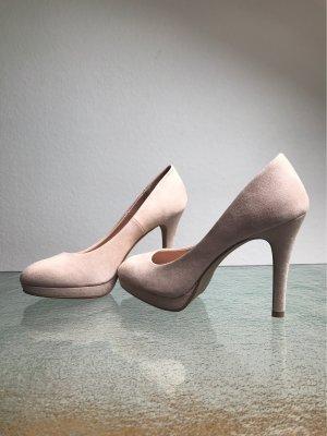 H&M Velourpumps Beige Gr. 38 im Meghan Markle Style