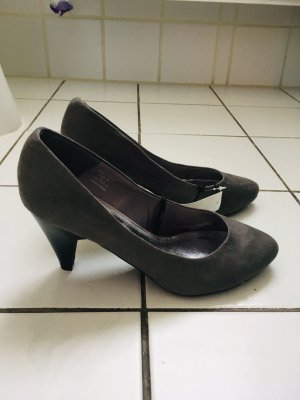 H&M Velours Pumps grau Gr 38