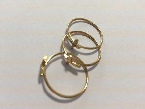 H&M verschiedene goldfarbene Ringe Kreuz