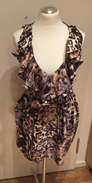 H&M verspieltes Kleid mit Tiermuster Leo Tiger Gr. 38 NEU