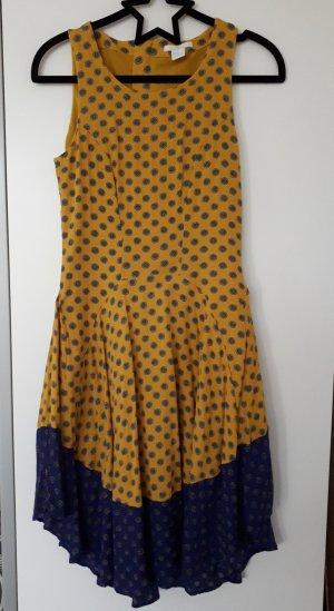 H&M Vestido estilo flounce amarillo-azul