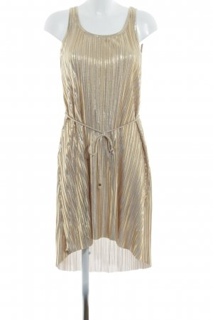 H&M High Low Dress gold-colored metallic look