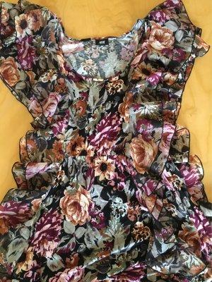 H&M Volantkleid 36/38 Blumen Muster
