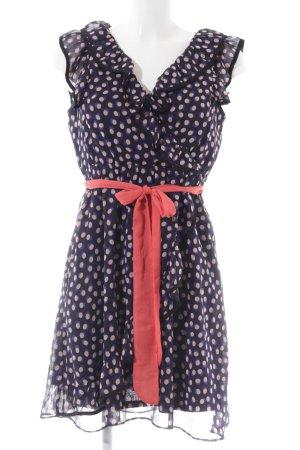 H&M Vestido estilo flounce estampado repetido sobre toda la superficie