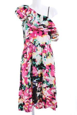 H&M Vestido estilo flounce estampado con diseño abstracto look casual