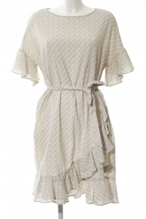 H&M Vestido estilo flounce blanco puro look casual