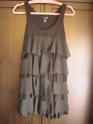 H&M Volantkleid/Babydoll schwarz aus Viskose