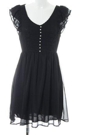 H&M Vestido estilo flounce negro look casual